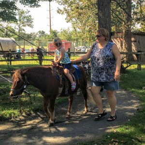 Pony ride with Grandma!